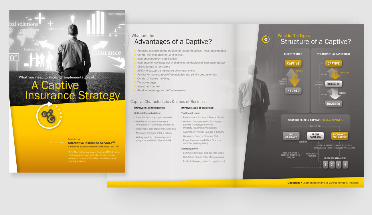 Alternative insurance services capabilities brochure crosseye inc alternative insurance services ais is a subsidiary of southern insurance underwriters and created to offer a unique service to large companies called a altavistaventures Choice Image
